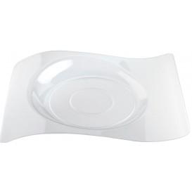 """Assiette plastique """"Forma"""" Transparent 28x23 cm (180 Utés)"""