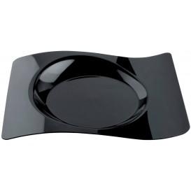 """Assiette plastique """"Forma"""" Noir 28x23 cm (180 Utés)"""