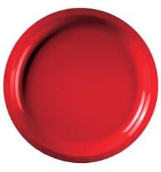 Assiette Plastique Rouge Round PP Ø290mm (25 Utés)