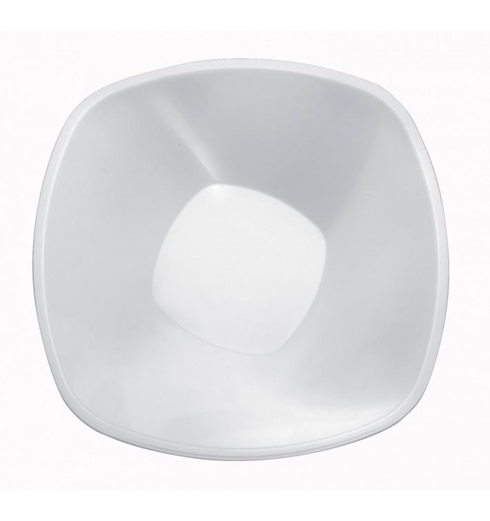 """Bol en Plastique PP """"Square"""" Blanc 1250ml Ø21cm (60 Utés)"""
