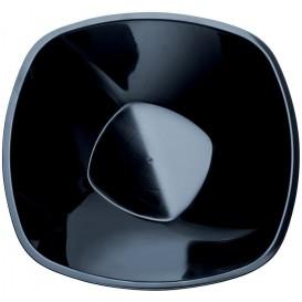 Bol en Plastique Noir Square PP Ø277mm 3000ml (3 Utés)