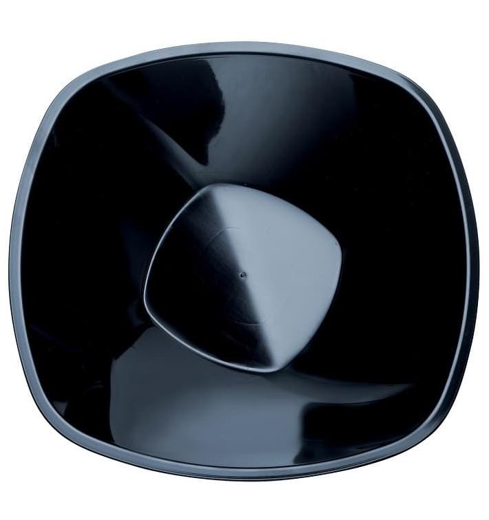 """Bol en Plastique PP """"Square"""" Noir 3000ml Ø27,7cm (3 Utés)"""