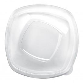 Couvercle Plastique Transp. Square PET pour Bol 210mm (3 Utés)