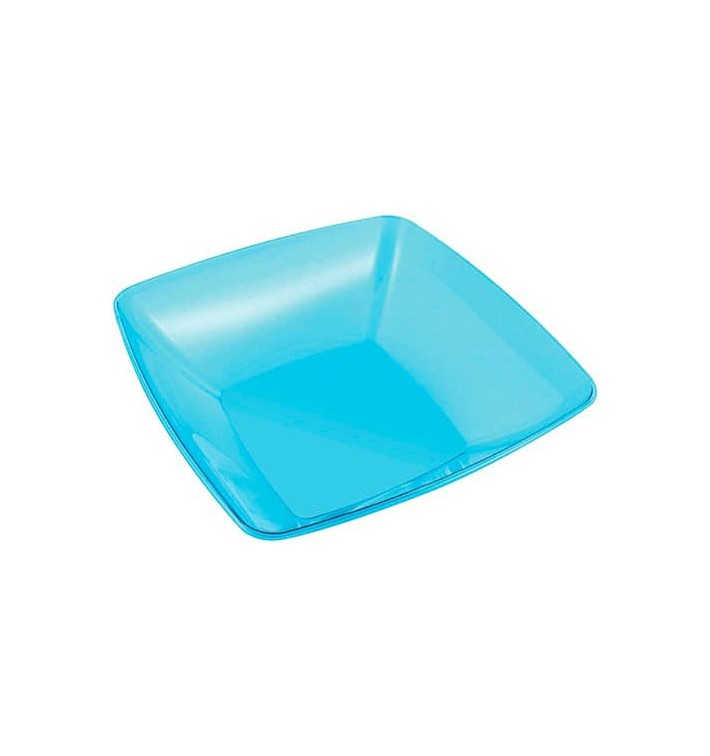 Bol PS Cristal Dur Turquoise 3500ml 28x28cm (1 Uté)