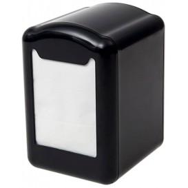 Distributeur à Serviettes Plastique Noir 17x17cm (1 Unité)