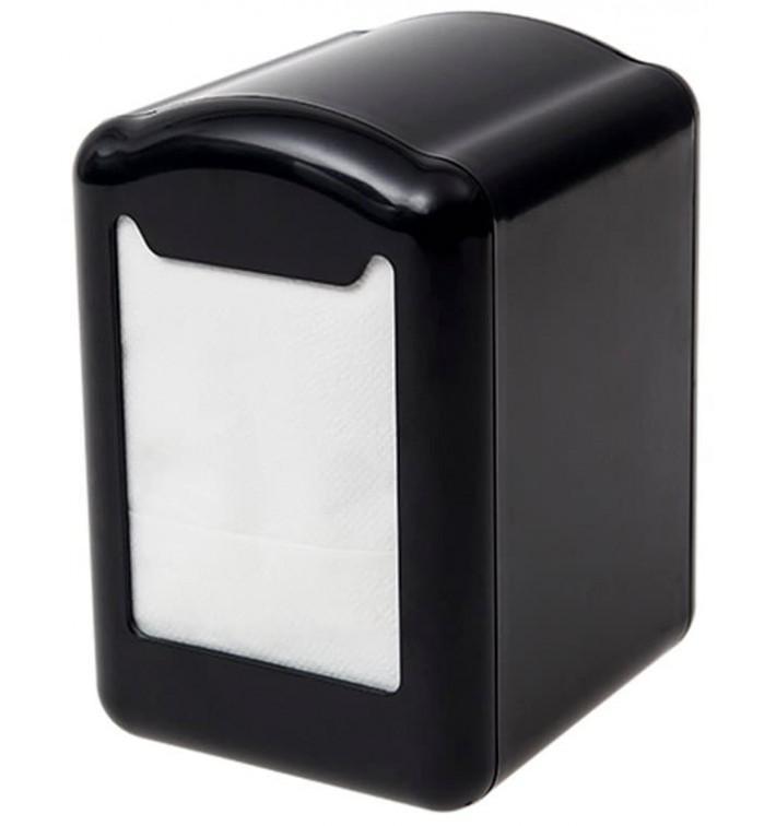 Distributeur à Serviettes Plastique Noir 17x17cm (12 Unités)