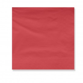 Serviette Papier à Cocktail 30x30cm Rouge (100 Utés)