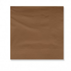 Serviette Papier à Cocktail 30x30cm Marron (100 Utés)