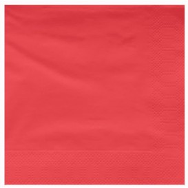 Serviette Papier à Cocktail 40x40 Rouge (50 Utés)