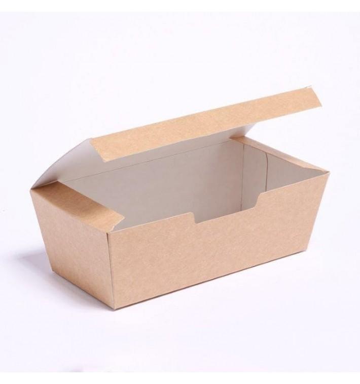 Boîte à Emporter Kraft 16,5x7,5x6cm (600 Unités)