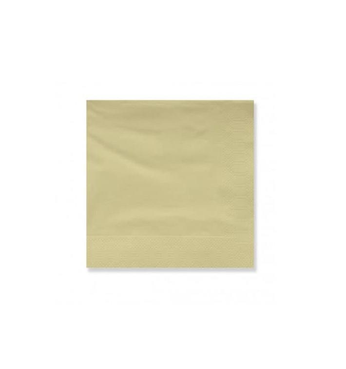 Serviette Papier à Cocktail 20x20cm Crème (6000 Utés)