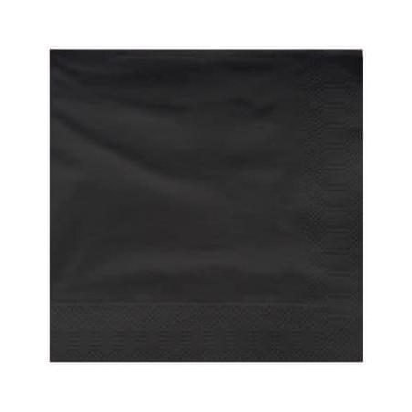 Serviette Papier à Cocktail 25x25cm Noir (100 Utés)