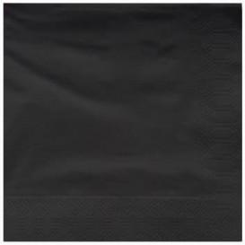 Serviette Papier à Cocktail 25x25cm Noir (3400 Utés)