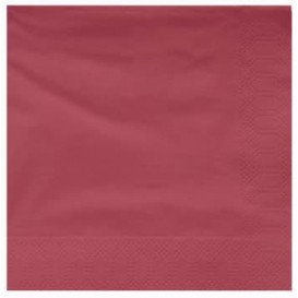 Serviette Papier à Cocktail 25x25cm Bordeaux (3400 Utés)