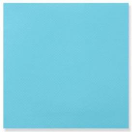 Serviette Papier Double Point 25x25cm Turquoise (50 Utés)