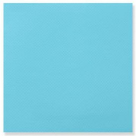 Serviette Papier Double Point 25x25cm Turquoise (1400 Utés)