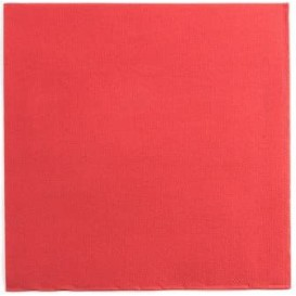 Serviette Papier Double Point 25x25cm Rouge (100 Utés)