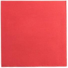 Serviette Papier Double Point 25x25cm Rouge (1400 Utés)