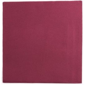 Serviette Papier Double Point 25x25cm Bordeaux (100 Utés)