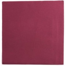 Serviette Papier Double Point 25x25cm Bordeaux (2100 Utés)