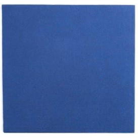 Serviette Papier Double Point 25x25cm Bleu (100 Utés)