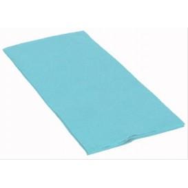 Serviette Papier Molletonnée 1/8 40X40 Celeste (50 Utés)