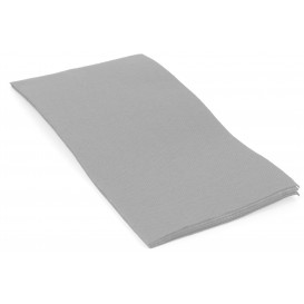 Serviette Papier Molletonnée 1/8 40X40cm Gris (50 Utés)