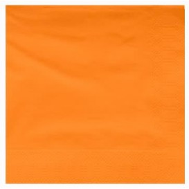 Serviette en Papier Ouate 40x40cm Orange (50 Utés)