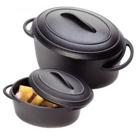 Verrine cocotte Noir avec Couvercle 80ml (144 unités)