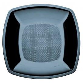 Assiette Plastique Réutilisable Plate Noir PS 180mm (300 Utés)