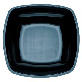 Assiette Plastique Creuse Noir Square PS 180mm (150 Utés)