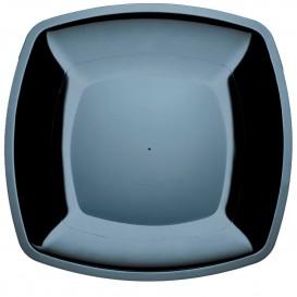 Assiette Plastique Plate Noir PS 300mm (12 Utés)