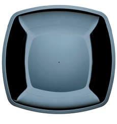 Assiette Plastique Plate Noir Square PS 300mm (12 Utés)