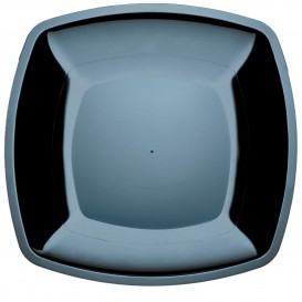Assiette Plastique Plate Noir PS 300mm (150 Utés)