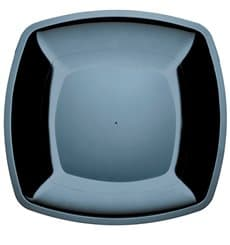 Assiette Plastique Réutilisable Plate Noir  PS 300mm (144 Utés)
