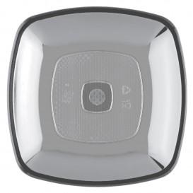 Assiette Plastique Réutilisable Plate Transp. PS 180mm (25 Utés)