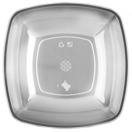 Assiette Plastique Fond Transparent 180mm (25 Utés)