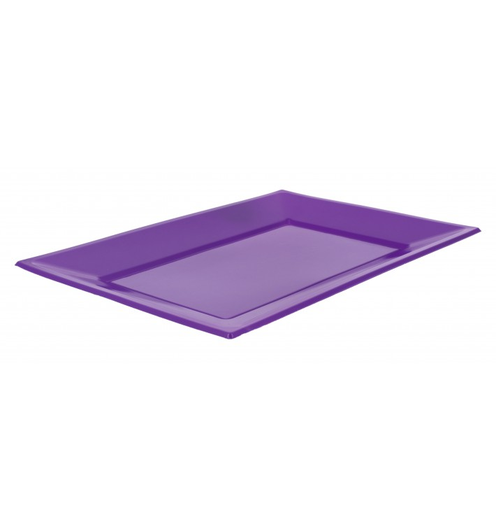 Plateau Plastique Lilas Rectang. 330x225mm (180 Utés)
