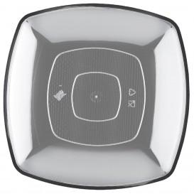 Assiette Plastique Réutilisable Plate Transp. PS 300mm (12 Utés)
