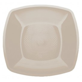 Assiette Plastique Plate Beige 230mm (25 Utés)
