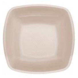 Assiette Plastique creuse Beige Square PP 180mm (25 Utés)