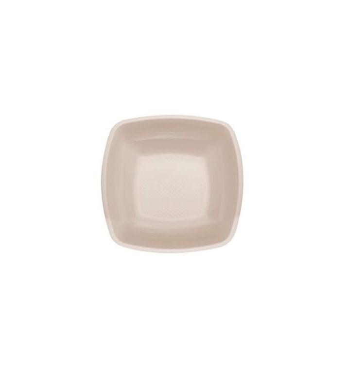 Assiette Plastique Réutilisable creuse Beige PP 180mm (25 Utés)