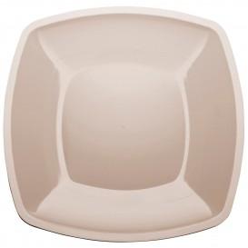 Assiette Plastique Réutilisable Plate Beige PS 300mm (144 Utés)