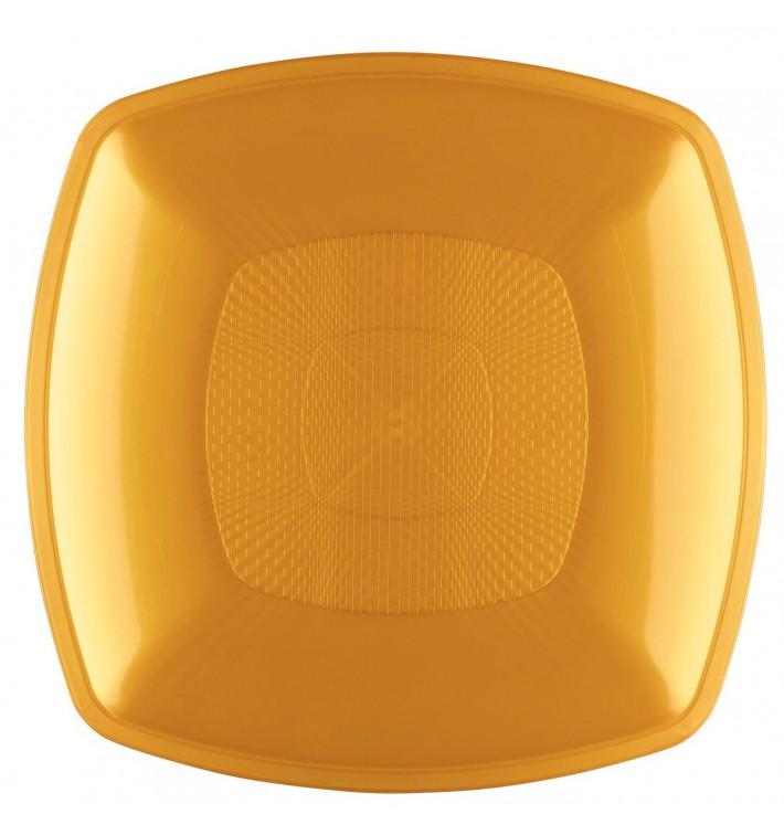 Assiette Plastique Réutilisable Plate Or PP 180mm (12 Utés)