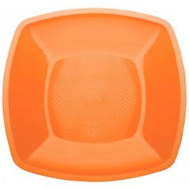 Assiette Plastique Réutilisable Plate Orange PP 180mm (300 Utés)
