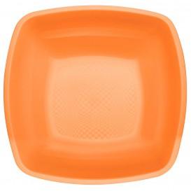 Assiette Plastique Réutilisable Creuse Orange PP 180mm (25 Utés)