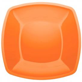 Assiette Plastique Réutilisable Plate Orange PS 300mm (144 Utés)