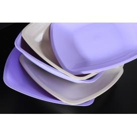 Assiette Plastique Réutilisable creuse Beige PP 180mm (300 Utés)