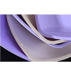 Assiette Plastique Plate Beige Square PP 230mm (25 Utés)