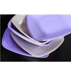 Assiette Plastique Plate Beige Square PS 300mm (144 Utés)